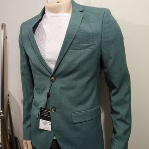 🆕Topman Blazer Ultra Skinny Stretch Green US 38